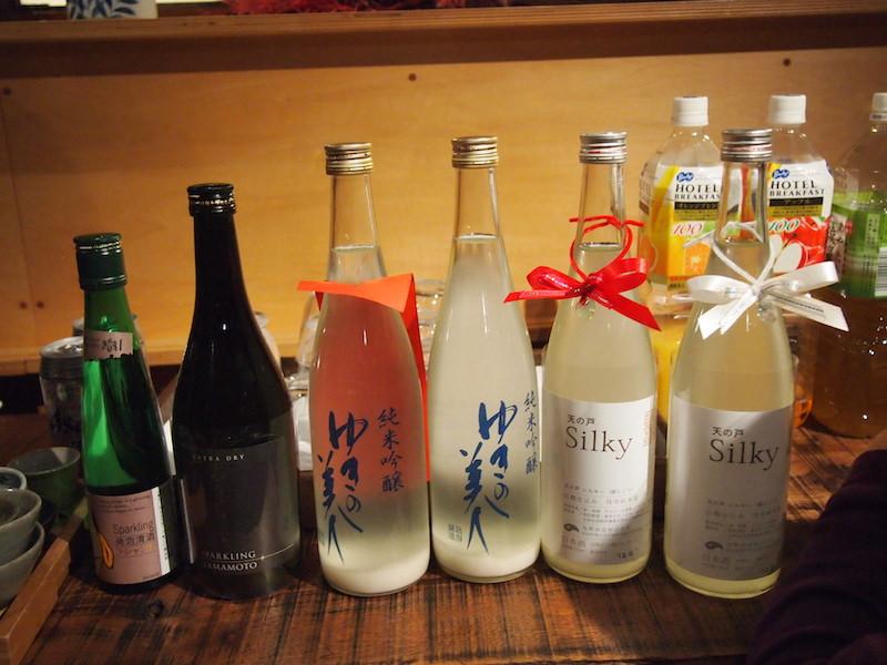 秋田のスパークリング日本酒で乾杯!