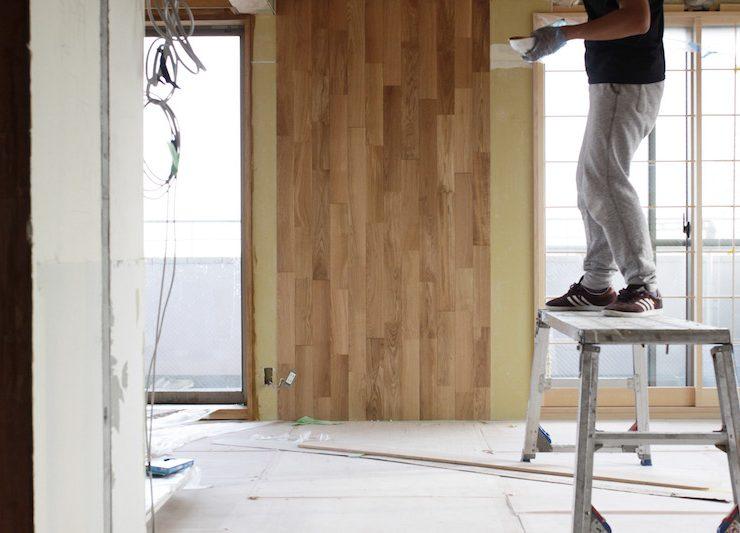 床はオークフローリング。一部は壁・天井にも回る(撮影:おおかわらあさこ)