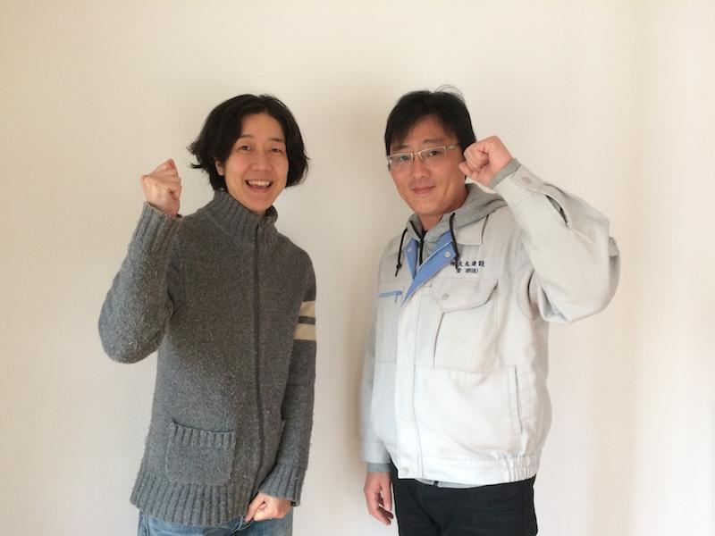 大丸建設の安田佳正さん(右)と本講座を担当する森ノオトの梅原昭子