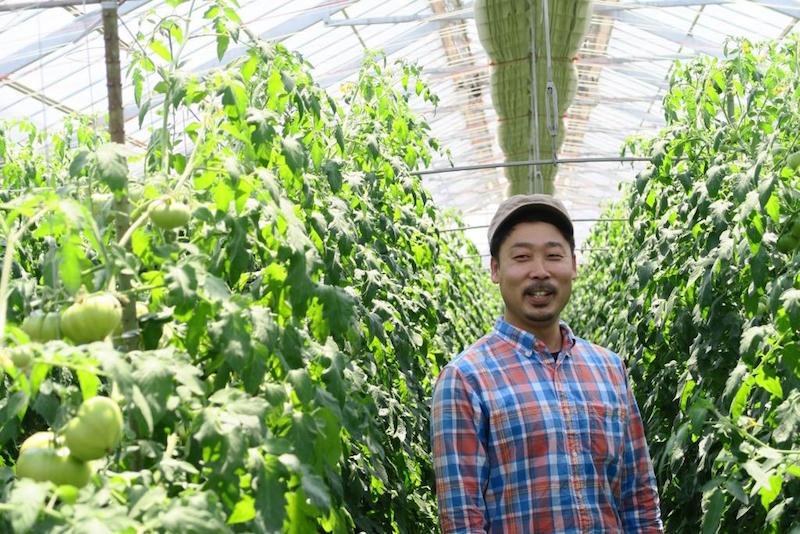 横山宜美さん。農業をはじめて7年目。両親と宜美さんの3人で約2haの畑を運営