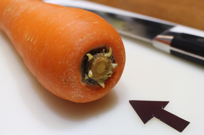 野菜によりますが、根っこは少し余裕を持って残すといいそうです。