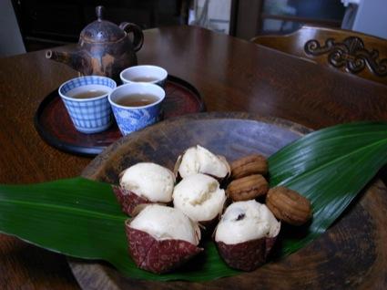 取材時、手づくりの蒸しパンを振る舞ってくださった。片山さんは森ノオトで読んだ長谷川清美さんのお豆の学校に通っているそうだ
