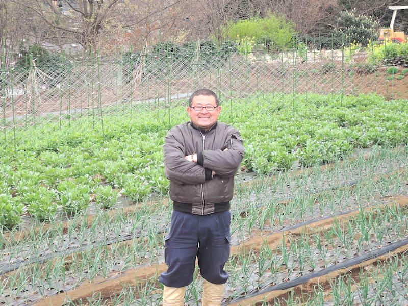 「有機堆肥をメインに、なるべく農薬に頼らない野菜づくりをしています」と平本さん。こまめに畑を回って作物の様子をみては、適材適所でその時の野菜に必要な栄養素を追加したり、資材で成長を支えるなど、手間を愛情をかけて野菜を育てる