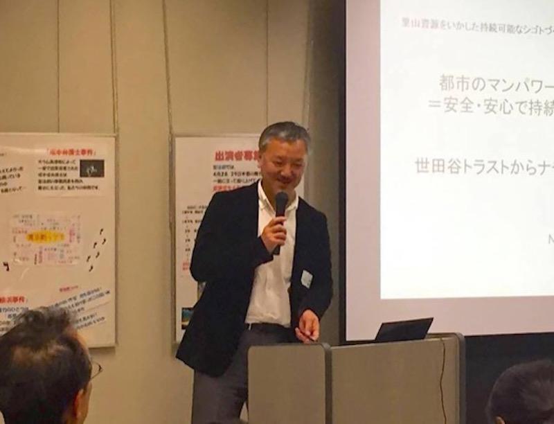 NPO法人ナチュラルリングトラスト副代表の小出仁志さんは、世田谷を拠点に主に埼玉の里山へ行ったりきたりして仕事をつくりだしている。