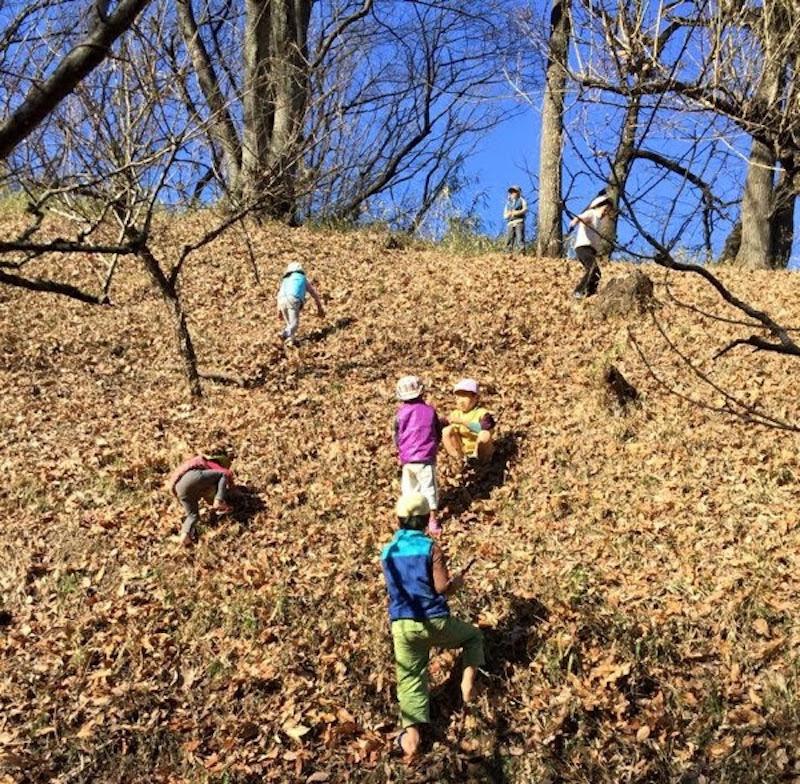 大きい子だと3時間、小さい子でも2時間以上は毎日外遊びの時間があります。